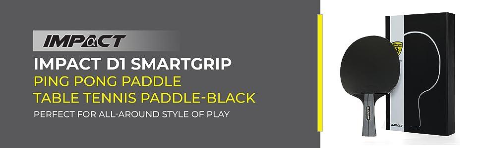 D1 SmartGrip Ping Pong Paddle Table Tennis Paddle-Black