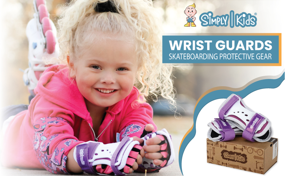 Wrist-Guard Snowboarding Roller Skating Wrist Guards for Youth Toddler Girl Boy Used Knee Pads and Elbow Pads Kids Wrist Brace Simply Kids Kids Wrist Guards Skateboarding Protective Gear