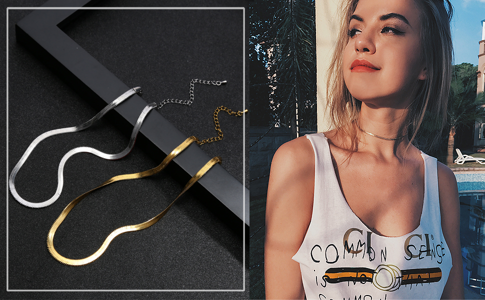 gold choker necklaces for women