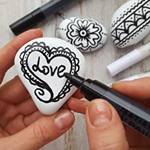 Paint pens for Rock Painting, Stone, Ceramic, Glass