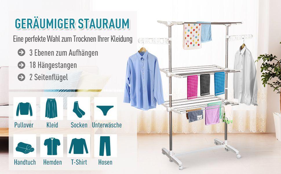Mobiler Wäscheständer Wäschetrockner-Turm