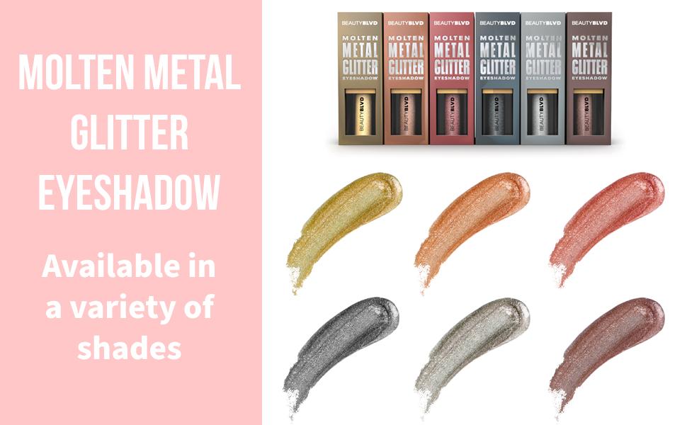 Molten Metal Glitter Eyeshadow Shades