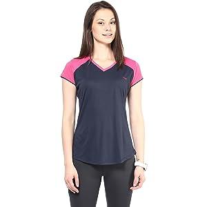 berge ladies v neck sportswear t shirt