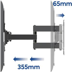 Mounting Dream Soporte de Pared de TV Giratorio Inclinación Soporte de Televisión para la Muchos 26-55 Pulgadas LED, LCD y OLED TVs de Pantalla Plana hasta 27kg, MAX. VESA 400x400mm, MD2431-MX-03: Amazon.es: