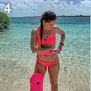 The New Wave Swim Bubble bouy swim bag personal swim buoy triathlon transition mat emergency