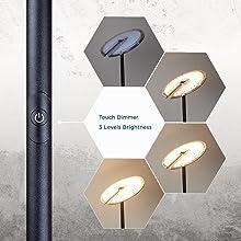 dimmable led floor lamp adjustable brightness bedside floor lamp led standing lamp office floor lamp
