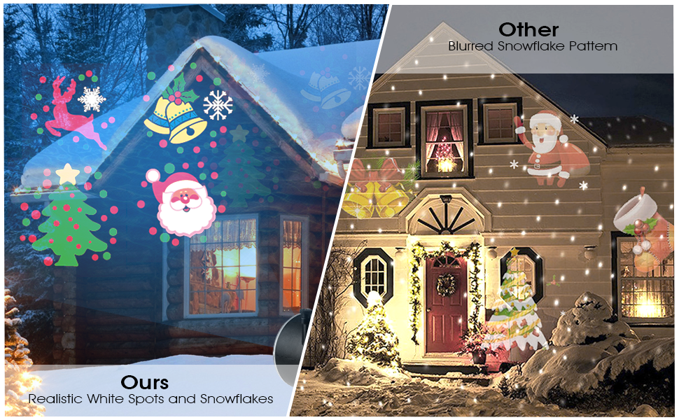 Proyector Navidad LED, FOCHEA IP65 Luces de Proyector Interior y ...