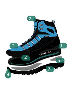 riemot Botas de Senderismo y Campo para Mujer Hombre, Zapatillas Altas de Trekking Zapatos de Montaña Escalada Aire Libre Calzado Impermeable Ligero ...