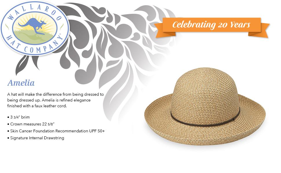 wallaroo hat company serious sun protection womens amelia adjustable for activities sun hat upf 50