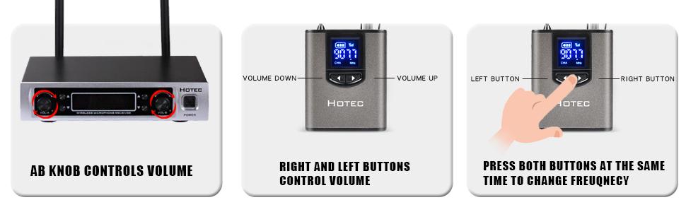 Volume adjustable
