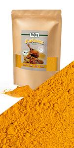 cúrcuma en polvo powder turmeric curcumin india harina muesli frutas seco nueces sin gluten sal té