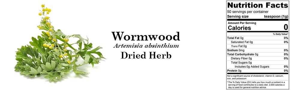 Biokoma Wormwood (Artemisia absinthium) Dried Herb 50g 1.76oz