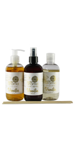 kit, vainilla, room spray, jabon, difusor, biodegradable