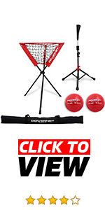 PowerNet Caddy, Hitting Tee and Weighted Balls Bundle is perfect for baseball softball coaches.