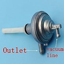 Vespa ET2 50 post 2000 Petrol Fuel Vacuum Tap Petcock