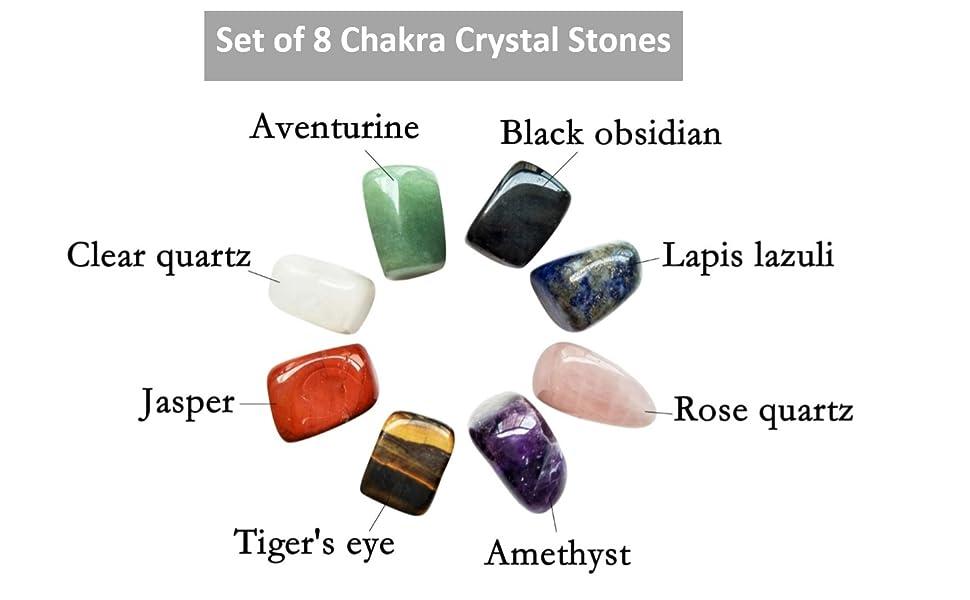 Set of 8 chakra stones