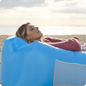 wekapo air lounger pillow shaped design
