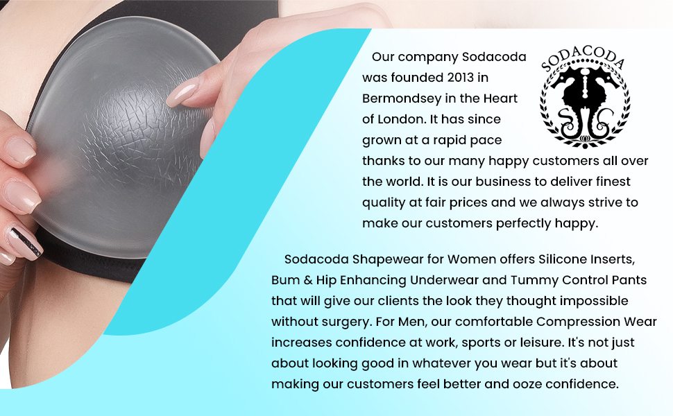 Gain over 2 Cup Sizes 355g Sodacoda Womens Super Sized Silicone Bra Inserts
