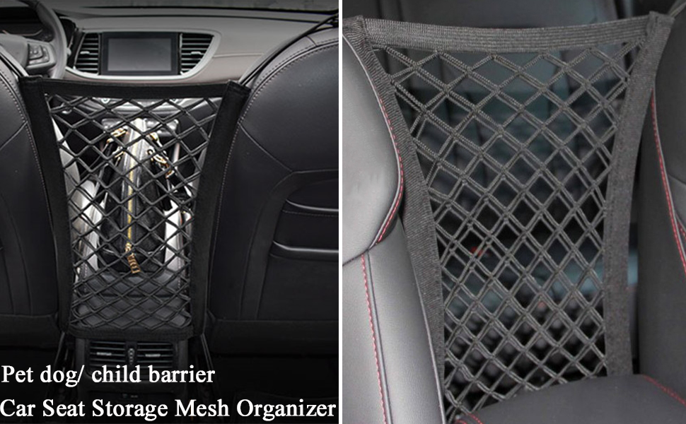 Noir YOUTHINK Pet Dog Car Net Front Seat Mesh Isolation Barrier Protective Safety Storage Oxford Cloth