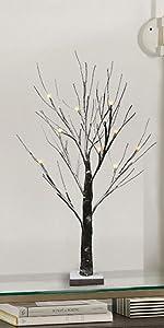 led snow tree