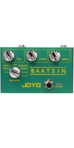 JOYO R-11 Baatsin Distortion and Overdrive Pedal, Multi Effect Pedal, Pure Analog Circuit