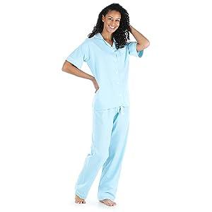 Button up short sleeve pajama set