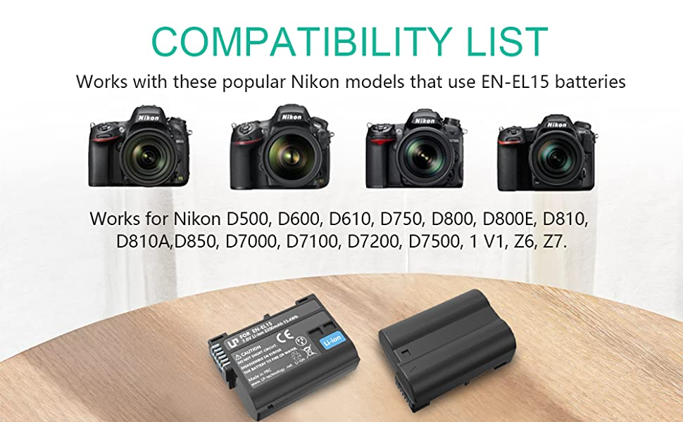 AKKU LADEGERÄT Lader für Nikon D500 D850 D7500