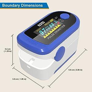 Sansui Digital Fingertip Pulse Oximeter (Blue)