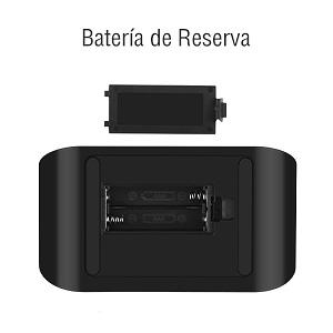 Aitsite Radio Despertador, FM Digital Radio Reloj Despertadores con Doble Puerto de Carga USB, Alarma doble con 5 Sonidos de Alarma, 10 Mins Snooze, 6 ...