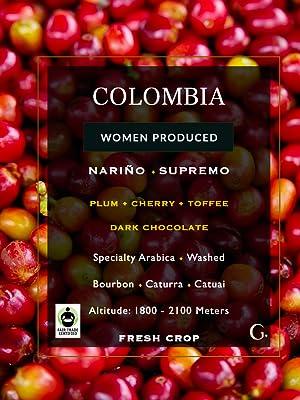 Colombian Columbian Green Raw Unroasted Coffee Beans Whole Roasting Supremo Organic Arabica Supreme