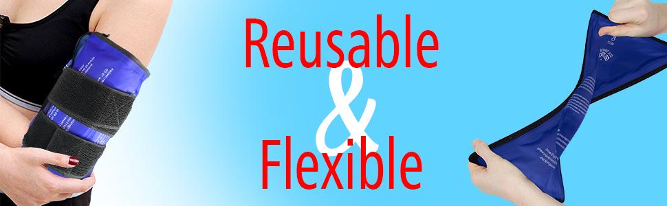 reusable, flexible, gel ice pack
