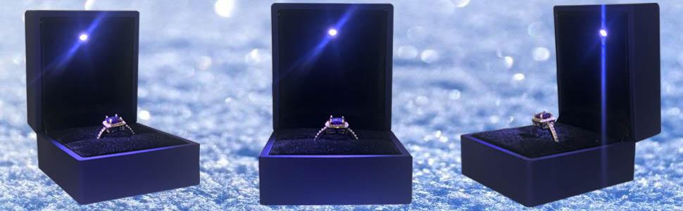 Bague Ouverte Ajustable pour Mariage//Fian/çailles avec Bo/îte-cadeau MINCHEDA Bague Femme Colibri Reglable Bague Cristal avec Anneau Ouvert Argent Sterling 925