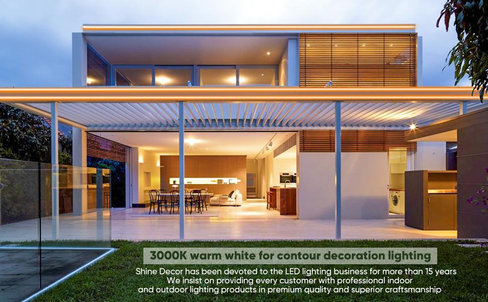 Shine Decor Warm LED Neon Rope Lights