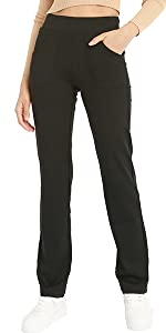 Bamans, pantaloni da donna, eleganti, elasticizzati, in tessuto elasticizzato