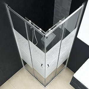 Festnight Mampara de Ducha Mamparas Baño con Vidrio de Seguridad 90 x 70 x 180 cm: Amazon.es: Hogar