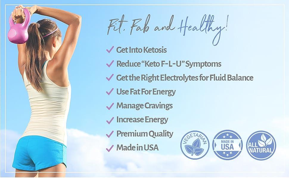 Amazon.com: Premium Keto Pills 1200 mg - 120 VCAPS KetoGirl Ultra Fast  Boost Burn for Women, Use Fat for Energy, Rapid Ketosis, Enhanced Pure BHB  Salts, 6X Advanced Supplement, Exogenous Ketones: Health