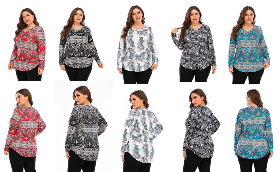 Floral printed Top plus size