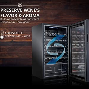 Ivation Wine Cooler Preserve the most complete flavor and aroma of wine