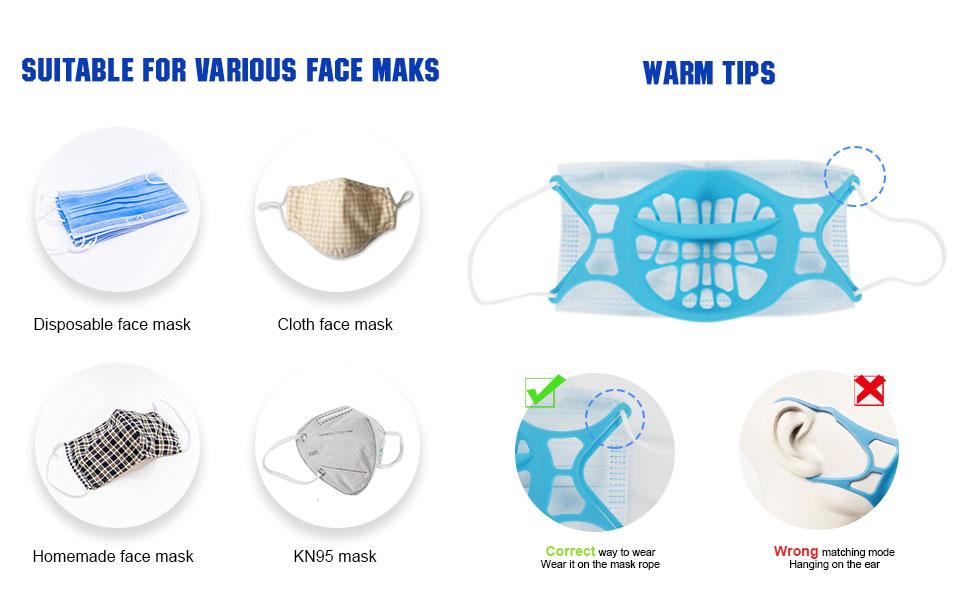 silicone mask bracket