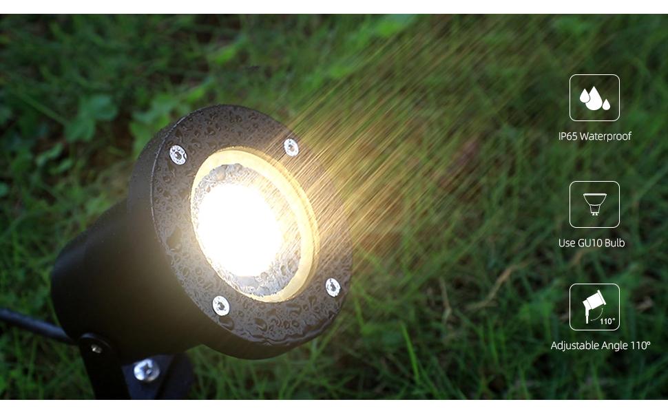 garden spike lights