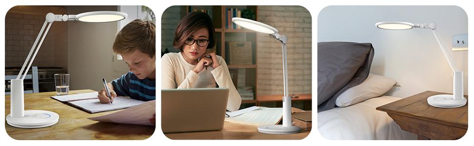 Lampada da scrivania a LED con protezione per gli occhi