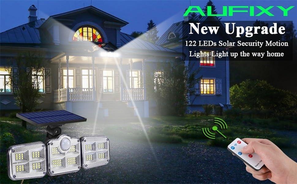 NEW upgrade solar lights outdoor