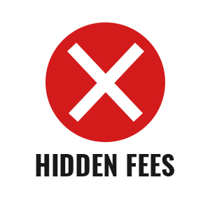 No Hidden Fees, Only Data Fees.