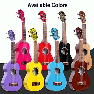 Soprano Ukulele 21 inch Uke Mini Kids Guitar Hawaiian ukelele Kit ukalalee for Beginner