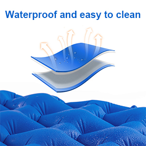 outdoor air mattress and pillow are made of premium materials, waterproof, light and compact