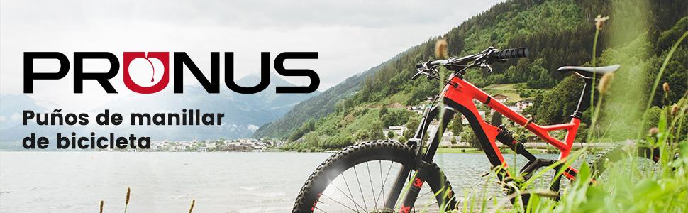 prunus Puños Bicicleta Caucho ergonómicos Antideslizantes puños para Manillar de MTB Bicicleta de montaña Mountain Bike o BMX Bici (Negro(130mm+130mm)): Amazon.es: Deportes y aire libre