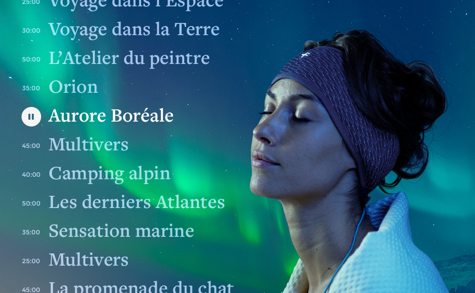 sommeil insomnie hoomband bandeau sleep hypnose histoire méditation