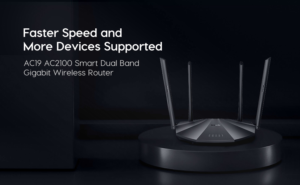 AC 2100 Dual Band Gigabit Wireless Router Equipped with full gigabit ports