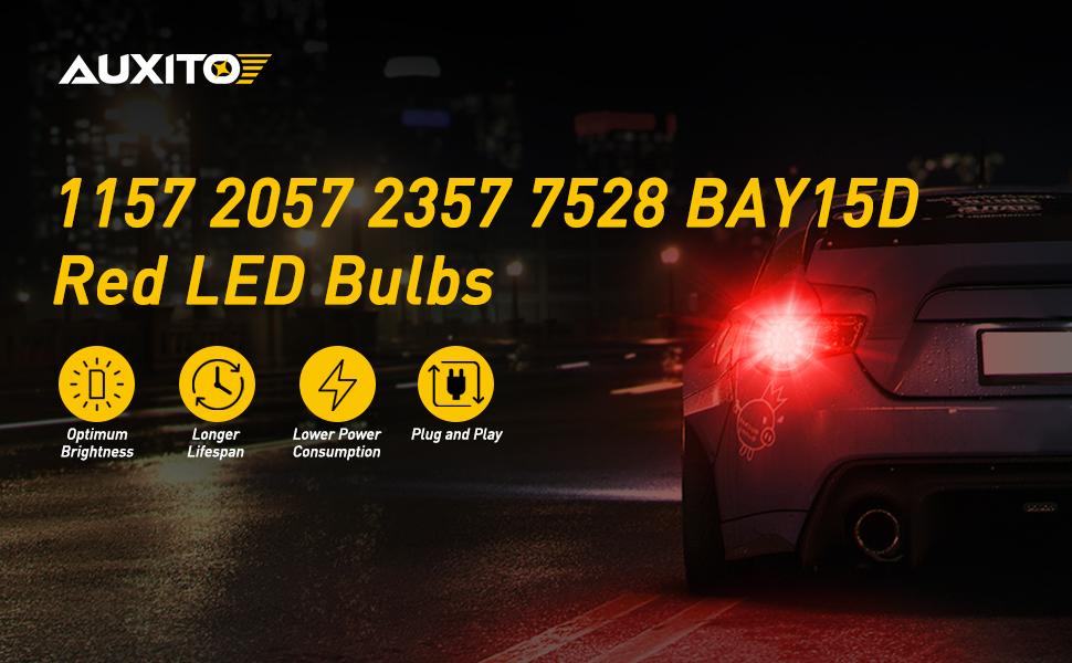 1157 Red LED bulbs
