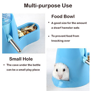 hamster food and water dispenser  hamster small water bottle hamster water dispenser